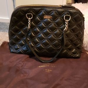 Kate Spade quilted large leather bag